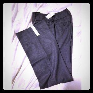 LOFT Pressed Drapey Tweed Trouser Pants Julie Fit
